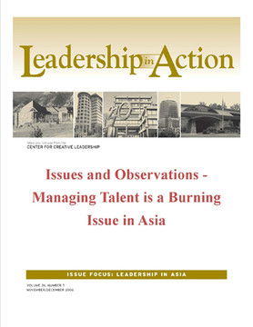 Leadership in Action: Issues and Observations - Managing Talent is a Burning Issue in Asia