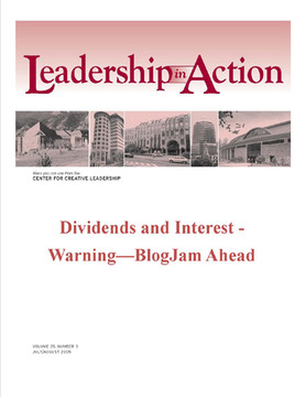 Leadership in Action: Dividends and Interest - Warning—BlogJam Ahead