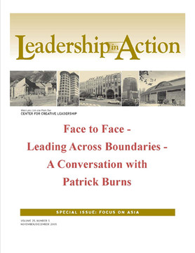 Leadership in Action: Face to Face - Leading Across Boundaries - A Conversation with Patrick Burns