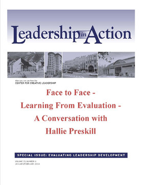 Leadership in Action: Face to Face - Learning from Evaluation - A Conversation with Hallie Preskill