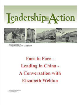 Leadership in Action: Face to Face - Leading in China - A Conversation with Elizabeth Weldon