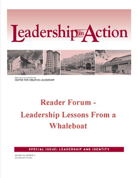 Leadership in Action: Reader Forum - Leadership Lessons from a Whaleboat