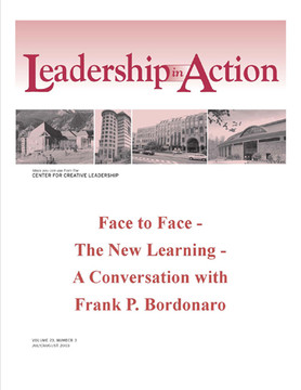 Leadership in Action: Face to Face - The New Learning - A Conversation with Frank P. Bordonaro