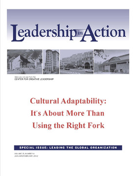 Leadership in Action: Cultural Adaptability: It's About more than Using the Right Fork