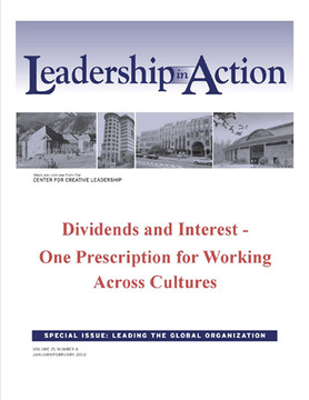 Leadership in Action: Dividends and Interest - One Prescription for Working Across Cultures