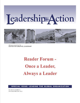 Leadership in Action: Reader Forum - Once a Leader, Always a Leader