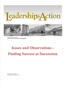 Leadership in Action - Issues and Observations - Finding Success at Succession