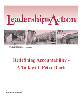 Leadership in Action: Redefining Accountability - A Talk with Peter Block