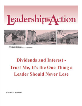 Leadership in Action: Dividends and interest - Trust Me, It's the One Thing a Leaders Should Never Lose