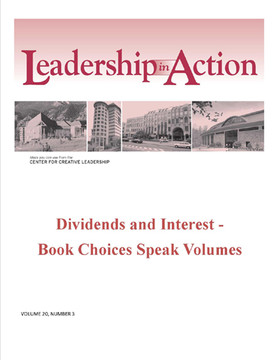 Leadership in Action: Dividends and Interest - Book Choices Speak Volumes