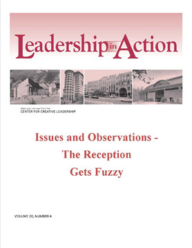 Leadership in Action: Issues and Observations - The Reception Gets Fuzzy