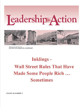 Leadership in Action: Inklings - Wall Street Rules That Have Made Some People Rich ... Sometimes