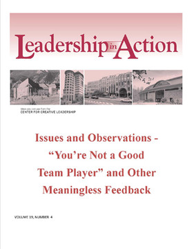 "Leadership in Action: Issues and Observations - ""You're Not a Good Team Player"" and Other Meaningless Feedback"