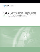 Cover of SAS Certification Prep Guide: Base Programming for SAS 9, Third Edition