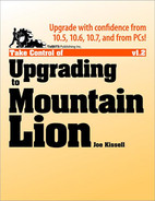 Cover image for Take Control of Upgrading to Mountain Lion