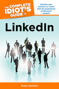 Cover of The Complete Idiot's Guide to LinkedIn