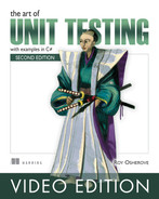 Cover of The Art of Unit Testing Video Edition