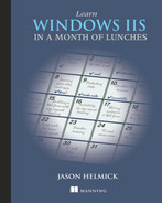 Cover of Learn Windows IIS in a Month of Lunches