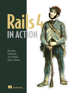 Cover of Rails 4 in Action: Revised Edition of Rails 3 in Action