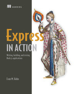 Cover of Express in Action: Writing, building, and testing Node.js applications