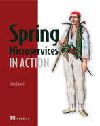 Cover of Spring Microservices in Action