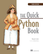 The Quick Python Book, Third Edition