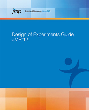 JMP 12 Design of Experiments Guide