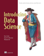 Cover of Introducing Data Science: Big data, machine learning, and more, using Python tools