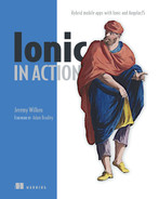 Cover of Ionic in Action: Hybrid Mobile Apps with Ionic and AngularJS