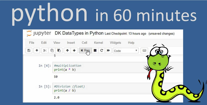 Python in 60 Minutes! [Video]