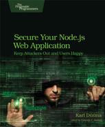 Cover of Secure Your Node.js Web Application