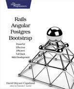 Cover of Rails, Angular, Postgres, and Bootstrap