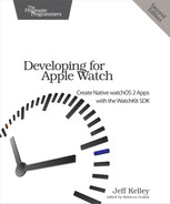 Cover of Developing for Apple Watch, 2nd Edition