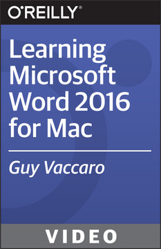 Learning Microsoft Word 2016 for Mac