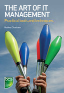 Book cover for The Art of IT Management: Practical tools, techniques and people skills