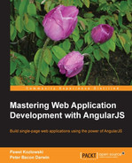 Cover of Mastering Web Application Development with AngularJS