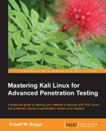 Cover of Mastering Kali Linux for Advanced Penetration Testing