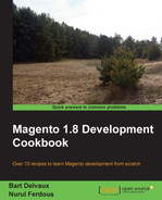 Cover of Magento 1.8 Development Cookbook