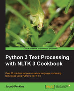 Cover of Python 3 Text Processing with NLTK 3 Cookbook
