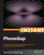 Cover of Instant PhoneGap