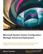 Cover of Microsoft System Center Configuration Manager Advanced Deployment