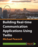 Book cover for Building Real-time Communication Applications Using Twilio