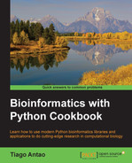 Cover of Bioinformatics with Python Cookbook