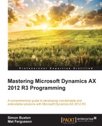 Book cover for Mastering Microsoft Dynamics AX 2012 R3 Programming