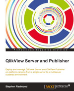 Cover of QlikView Server and Publisher
