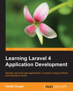 Cover of Learning Laravel 4 Application Development