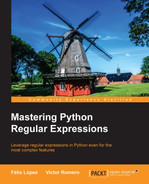 Cover of Mastering Python Regular Expressions