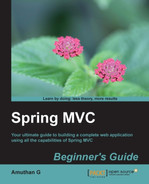 Cover of Spring MVC Beginner's Guide
