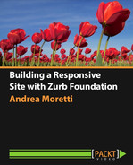 Book cover for Building a Responsive Site with Zurb Foundation
