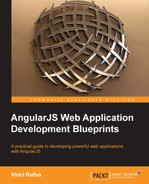 Cover of AngularJS Web Application Development Blueprints
